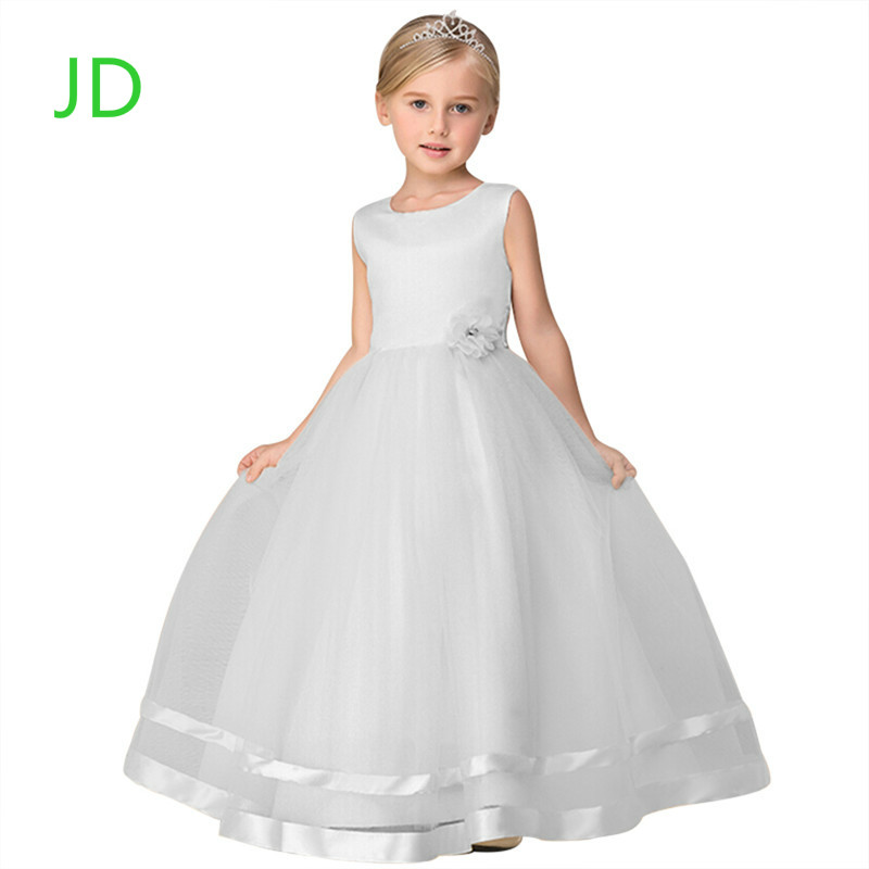 Brand New Flower Girl Dresses White Real Party Pageant Communion Dress Little Girls Kids/Children Dress for Wedding<br>