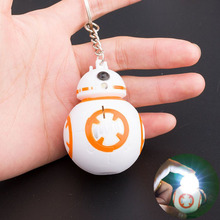 BB8 BB-8 Robot BB 8 Darth Vader Storm Trooper Action Figure With Light And Sounds Pendant Toys