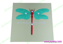 dragonfly puzzle  montessori materials school educational earning  wooden toys classic baby kids early learning educational wood
