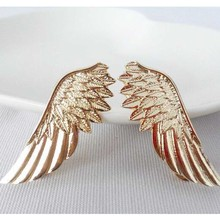 Unisex Elegant Wings Brooches for women and men Collar brooch pins Gold/Silver Plated Feather Brooches for party christmas gift