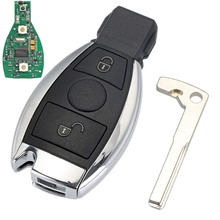 2 Buttons Keyless Entry Remote Car Key 433 MHz for Mercedes BENZ 2000+ with NEC&BGA Key Shell Replacement Case D25(China)