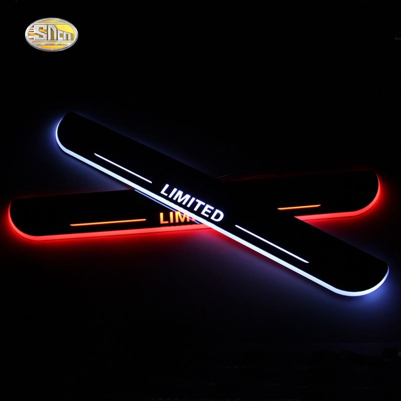 SNCN LED door sill pedal for Ford Fusion 2013-2016 Moving light Scuff led welcome pedal(China)
