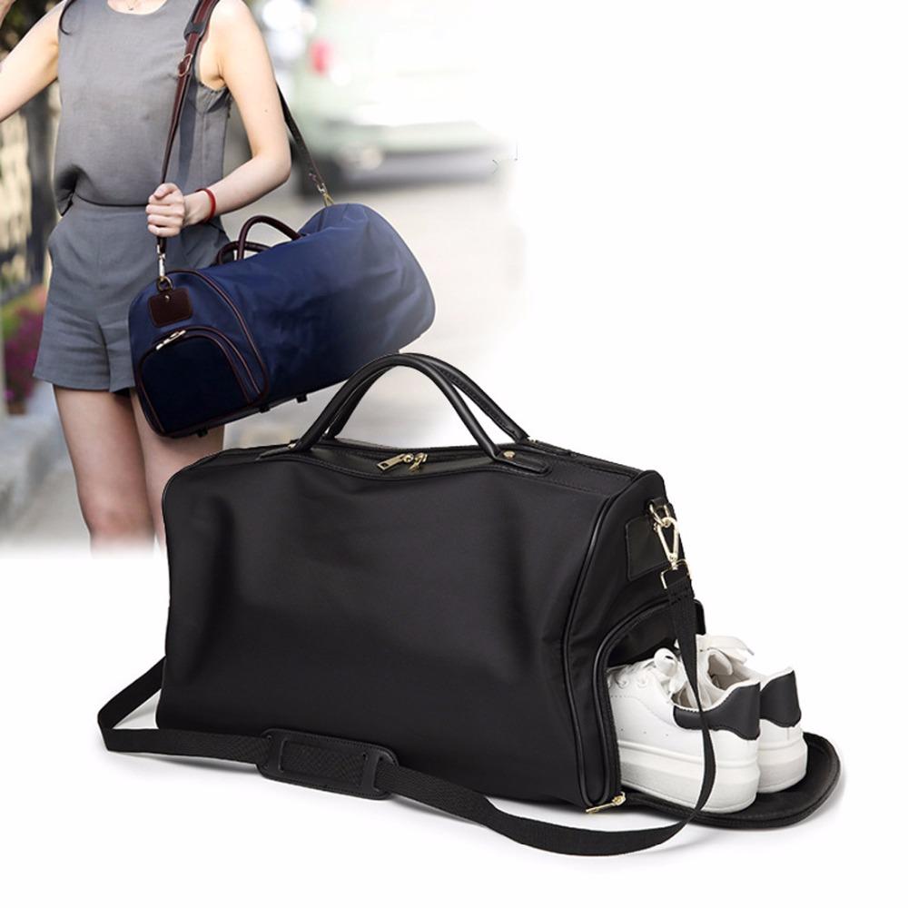 Travel Bags Waterproof Solid Zipper Nylon Bag Women Large Capacity Shoulder  Handbag Casual Crossbody Travel Single Shoulder Bags 1535edadd9
