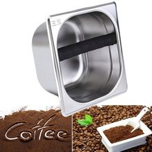 Stainless Steel Coffee Grounds Knock Box For Coffee Machines Residue Waste Holder Organizer Home Coffee Shop Tools Accessories