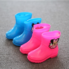 2017 Mini Sed Mouse section boy girl rain Boots blue pink cute baby todder adorable fashion boots non slip water shoes Sapato