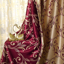 2017 Modern Luxury Jacquard Window Curtains Sheer for Curtains Made To Order Curtain for Living Room Bed Room Fast Shipping