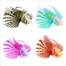 4 Colors Artificial Aquarium Fish Is Made Of Silicone Material Made Of Light Simulation Animal Jewelry Aquarium Decoration(China)