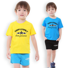 Boy Clothes fashion children sports wear casual shorts Tops and shorts for kids 2017 baby summer clothing Travel cotton t-shirt(China)