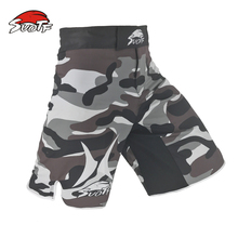 MMA three color camouflage breathable cotton boxing personality training special shorts sanda mma fight shorts muay thai boxing