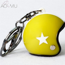 AOMU Fashion Motorcycle Helmets Key chain Hot Sale Cute Safety Helmet Knight Hat Car Keychain for men and women wholesale