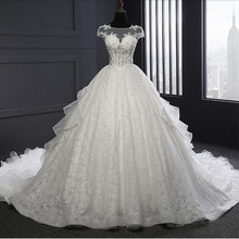 Buy Newest Ball Gown White Wedding Dresses 2017 Vestido De Noiva Real Photos Lace Princess Wedding Dress Robe De Mariage Casamento for $240.00 in AliExpress store