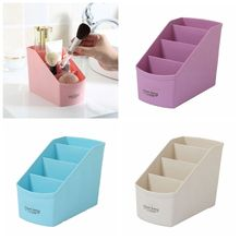 1Pc Multifunctional Multicolored Home Desktop Sundries Make Up Organizer Remote Control Phone Storage Box(China)