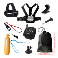 Accessories set for Gopro hero 5 Xiaomi Yi 4K Chest Head Mount Strap Float bobber For Go pro SJCAM Eken Sport Action Camera 17