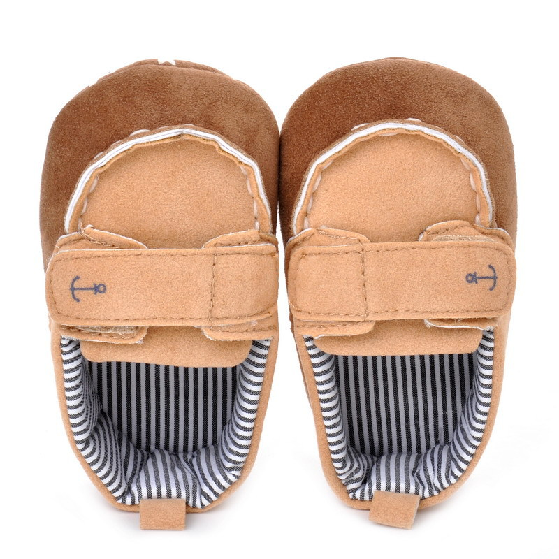 17 Fashion Newborn Baby Girl Boy Shoes Soft Sole Infantil Toddler Baby Boy Sneakers Blue Baby Mocassins Crib Peas Flock Shoes 26