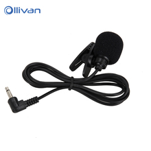 Mini microphone Headphones 3.5mm Studio microphone With Tie Lapel Lavalier Clip Mic For Computer Teaching Speech Microphones(China)