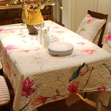 New American printed cotton Square rectangle embroidery Tablecloth table cloth dinner mat Mat table cover wholesale FG256-2