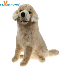 BOOKFONG 55CM Emulational Golden Retriever Plush Toy Lifelike Stuffed Animal Dog High Quality Birthday Gift(China)