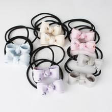 10 Lot Elastic Hair Ties Band Bow Hairbows Ponytail Holder Headbands Accessories