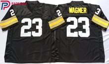Embroidered Logo mike wagner 23 black Throwback high school FOOTBALL JERSEY for fans gift cheap 1108-32(China)