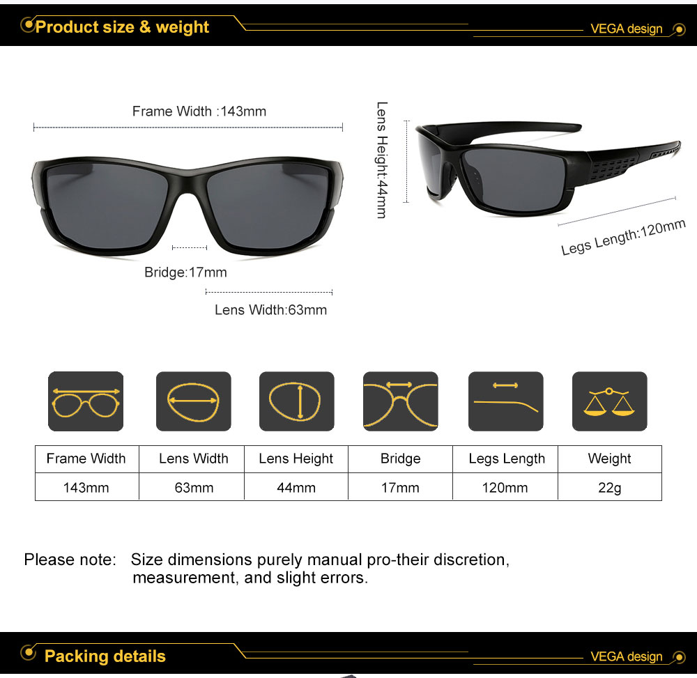 VEGA Eyewear Best Women Men Sports Sunglasses Polarized Outdoor Sports Glasses for Bike Fishing Running Sport Eyewear 206 (14)