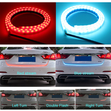 120cm 150cm 335 LED Dynamic Streamer Turn Signal Tail Box Trunk Lights Luggage Compartment Tailgate LED Warning Light Strips(China)
