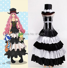 One piece Cosplay Ghost Princess Perona Two Years Later Cosplay Costume Women Dresses Halloween Costumes