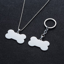 Dog Tags Pendants Stainless Steel For Men & Women Dog bones Nameplate Necklaces Alloy chain For Like cats and dogs Pet people