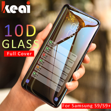 10D Full Cover Tempered Glass For Samsung Galaxy A7 2108 Note 9 8 Screen Protector For Galaxy S8 S9 A6 A8 Plus 2018 S7 Edge Film(China)