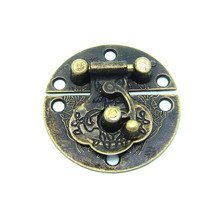 20pcs 40mm drawer latches alloy buckle Alloy Antique Flower Box buckle latch hook wooden gift box packing buckle clasp 14G