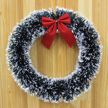 Christmas Bowknot Garland 35cm PET Hanging Madder Wreath Home Store Office Party Decoration(China)