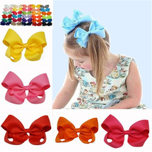 2016 Limited Hot Sale Children 4 Inch Boutique Hair Clip Bow Baby Girls Solid Accessories Ribbon For Gift Free Shipping 4 Pcs