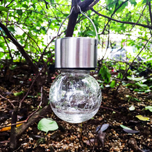 Led pendant Solar lantern lamp christmas tree crackle glass Jar RGB outdoor solar party holiday garden decoration light yard
