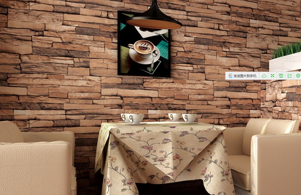 chinese Wood Blocks Effect Brown and dark gary wood Brick 10M roll Vinyl Wallpaper Roll Living Room Background Wall Decor Art Wa<br>