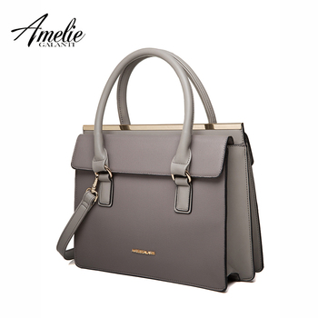 AMELIE GALANTI новый старинные сумки женщин твердый жесткий высокое качество Внутреннее Отделение универсальный мешок плеча способа 3 цвета