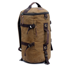 Big Size Men's Canvas Backpacks Extra Large Travel Bag Rucksack Backpack Portable Shoulder Bags Double Use Unisex(China)
