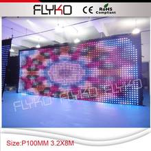Factory good quaility stage backdrop display picture, gif, animation led stage curtain screen
