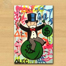 Alec Monopoly Graffiti Art modular in  Wall Pictures For Living Room Home Decoration Arts Poster oil Painting on canvas cuadros