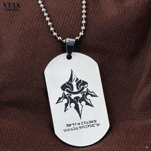 VEIA joyas 2017 New Game NieR:Automata Pendants Necklace Stainless Steel Dog Tag Necklace Keychain Charm Collar Long Chain Women