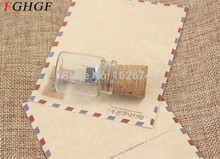 FGHGF LOGO customer Glass drift bottle with Cork USB Flash Drive (Transparent) 4GB 8GB 16GB 32GB special gift for lovers