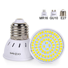 E27 GU10 MR16 E14 Led Bulb 220V 230V Led Spot Lights SMD2835 Bombillas 48 60 80LEDs Lampara for Home Lamps