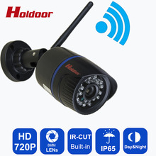 720P HD IP Camera Wifi  P2P for Smartphone Waterproof IP65 24 IR Outdoor Nignt Vision Home Security Cam with IR-CUT  Onvif