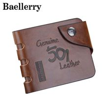 Baellerry Vintage Short Men Wallets coin pocket card holder leather Pu Hollow Cash men's wallets carteira masculina 2017 BG768