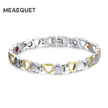 Buy Meaeguet Fashion Heart Health Magnetic Bracelet Women 316L Stainless Steel Health Care Elements Bracelet Hand Chain Jewelry for $7.99 in AliExpress store