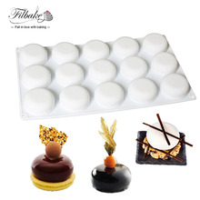 15 Cavity Round Stone Shaped Silicone Mold Baking and Dessert Molds