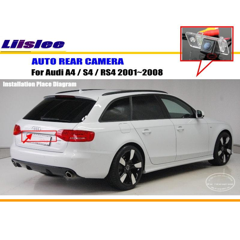 Car Rear View Camera For AUDI Audi A4 / S4 / RS4 2001~2008 / Reverse Camera / HD CCD RCA NTST PAL / License Plate Lamp OEM(China (Mainland))