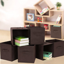 Home Office groceries Foldable  Storage Box/Cube toy Basket Underwear Socks Ties case Clothes Containers drawers for book