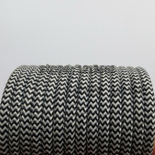 5meters black and white 2core 0.75mm2 Textile Electrical Wire Color Braided Wire Fabric Covered Electrical Power Cord Wire Cable(China)