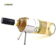 1PC 304 stainless steel wine rack cabinet Home Furnishing decorative cannon Wine holder with 2 legs KJ 3005(China)