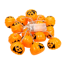 ITimo 16 LEDs Pumpkin String Lights for Halloween Christmas Light Props Decorations Indoor Lamp String Fairy Lights Lamps(China)