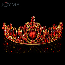 Luxury Baroque Bridal Crown Diademe Crowns Gold Tiara Red Hair Wedding Accessories Headband Headpiece Decorations Jewelry